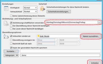 Wie verwende ich eigene Optionen in Outlook-Abstimmungen? Teil 2