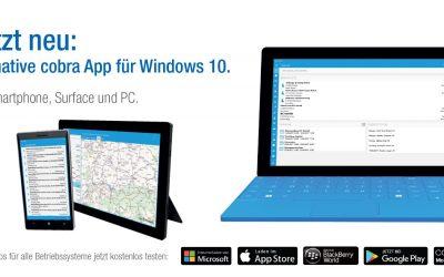 Jetzt neu: die native cobra App für Windows 10